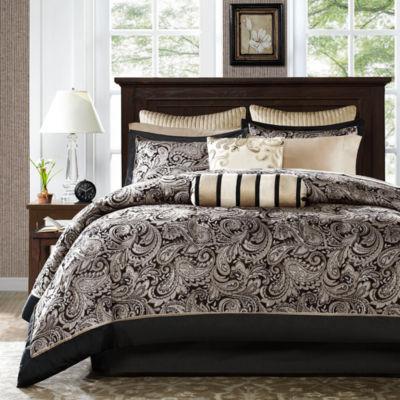 madison bedroom set. Madison Park Wellington 12 pc  Complete Bedding Set with Sheets Jacquard Comforter