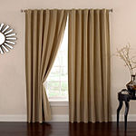 Eclipse Bradley Absolute Zero 100% Blackout Back-Tab Single Curtain Panel