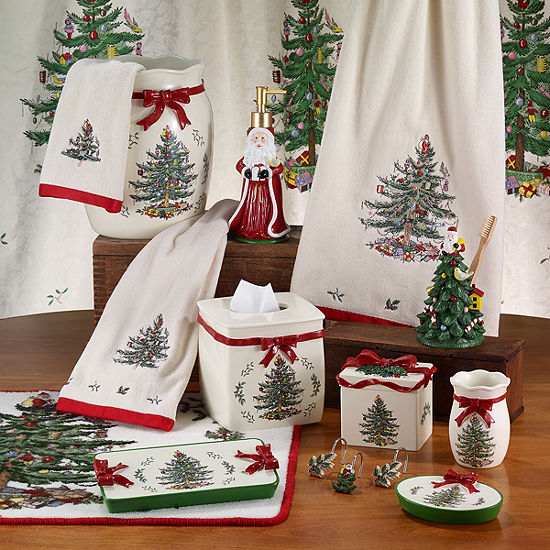 Avanti Spode Christmas Tree Bath Collection