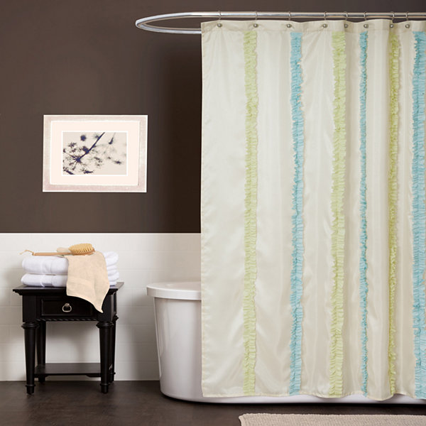 Lush Décor Aria Shower Curtain