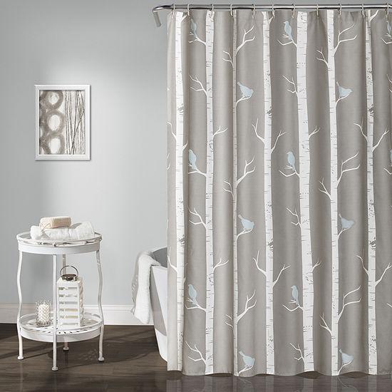 Lush Décor Bird On The Tree Shower Curtain