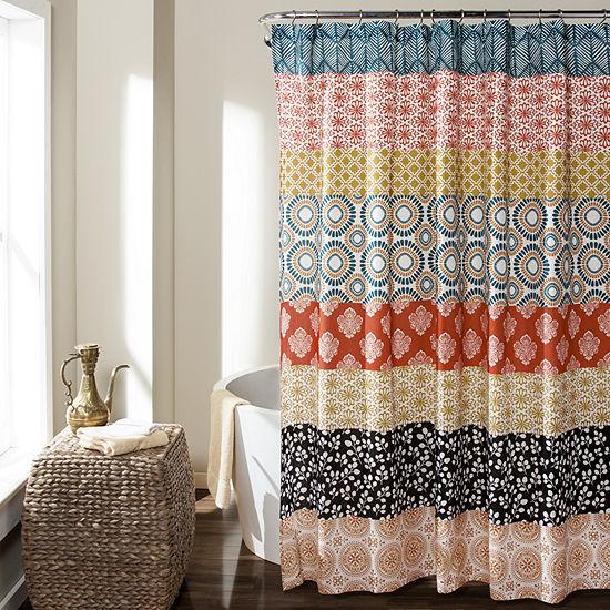 Lush Décor Bohemian Stripe Shower Curtain