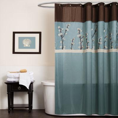 Lush Décor Cocoa Shower Curtain