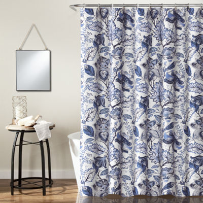 Lush Décor Cynthia Jacobean Shower Curtain