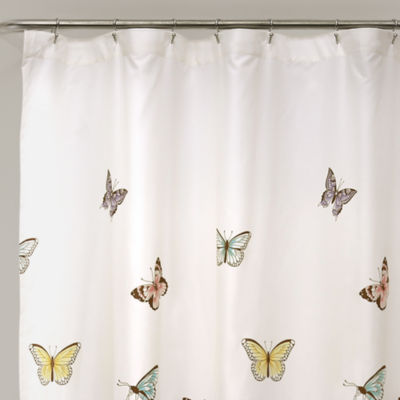 Lush Decor Lush Décor Flutter Butterfly Shower Curtain