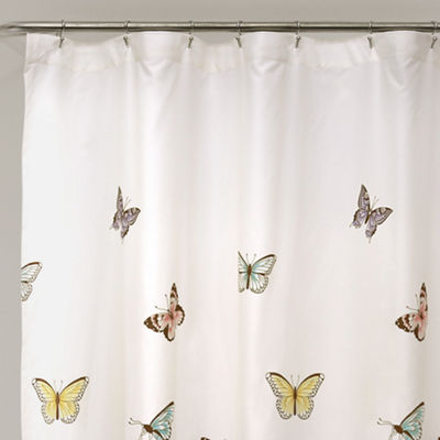 Lush Décor Flutter Butterfly Shower Curtain