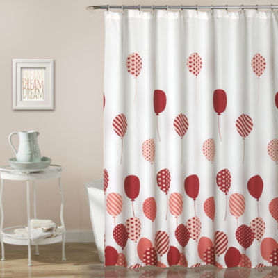 Lush Décor Flying Balloon Shower Curtain