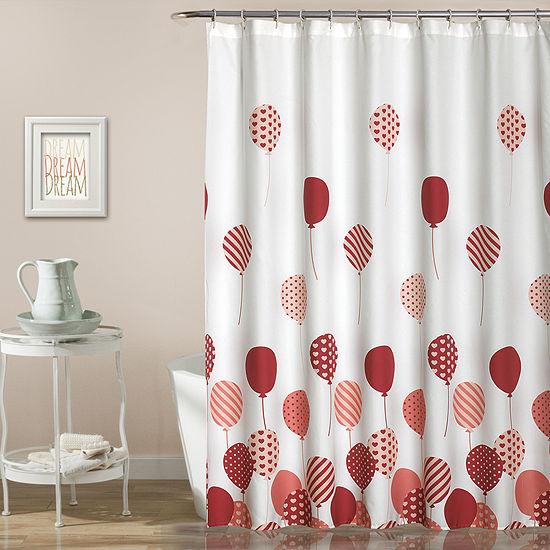 Lush Décor Flying Balloon Shower Curtain