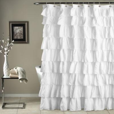 Lush Décor Ruffle Shower Curtain