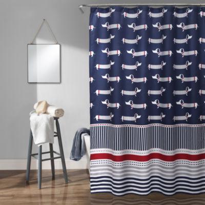 Lush Decor Lush Décor Sausage Dog Shower Curtain