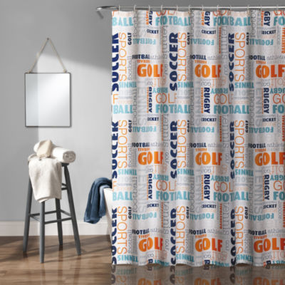 Lush Décor Sports Shower Curtain