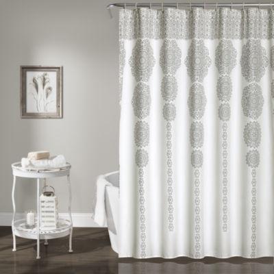 Lush Décor Stripe Medallion Shower Curtain