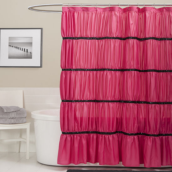 Lush Décor Twinkle Shower Curtain