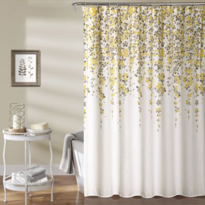 Lush Décor Weeping Flower Shower Curtain