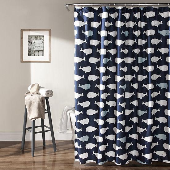 Lush Decor Lush Décor Whale Shower Curtain