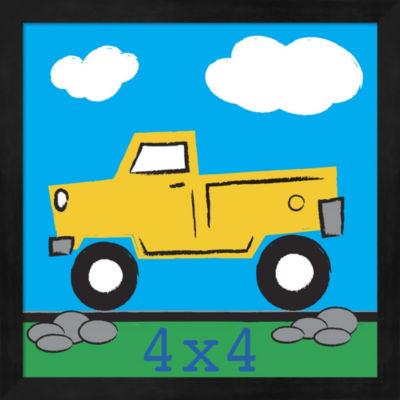Metaverse Art 4X4 Truck Framed Wall Art