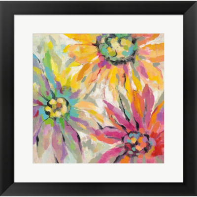 Metaverse Art Abstracted Petals I Framed Wall Art