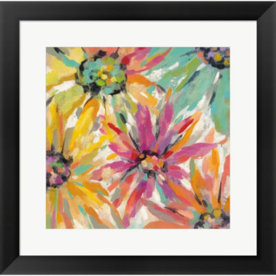 Metaverse Art Abstracted Petals II Framed Wall Art