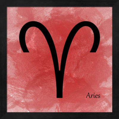 Aires - Red Framed Wall Art
