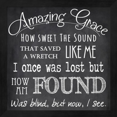 Metaverse Art Amazing Grace Chalkboard Framed WallArt