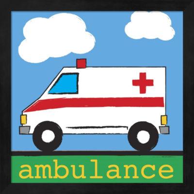 Metaverse Art Ambulance Framed Wall Art