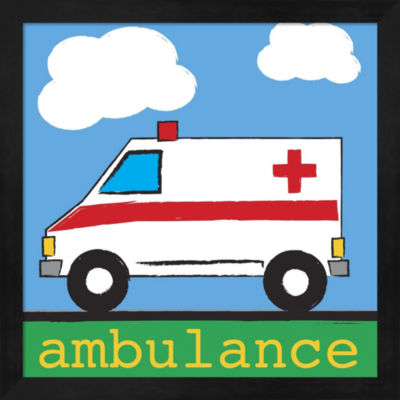 Ambulance Framed Wall Art