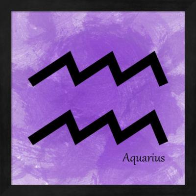 Aquarius - Violet Framed Wall Art