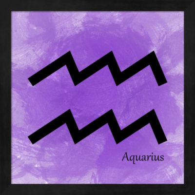 Metaverse Art Aquarius Violet Framed Wall Art
