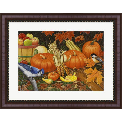 Metaverse Art Autumn Bounty by William Vanderdasson Framed Wall Art