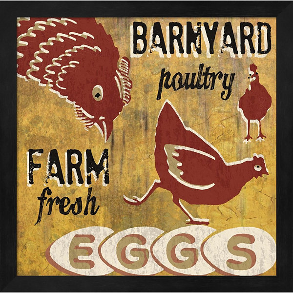 Metaverse Art Barnyard Poultry Framed Wall Art