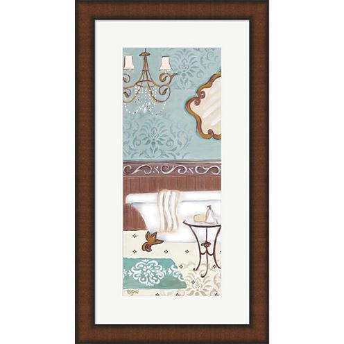 Fancy Bath Panel II Framed Wall Art