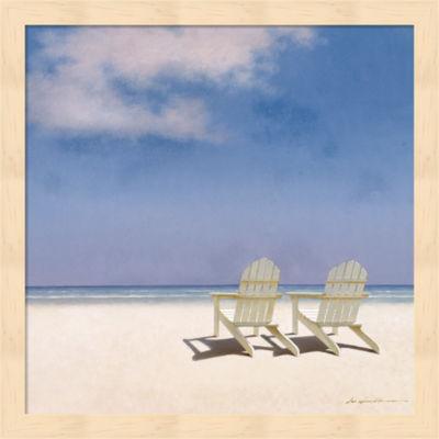 Metaverse Art Beach Chairs Framed Wall Art