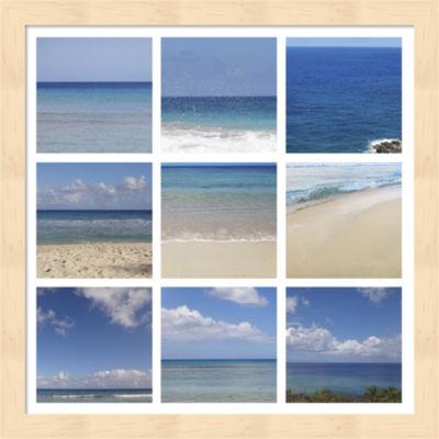 Beach Collage Framed Wall Art