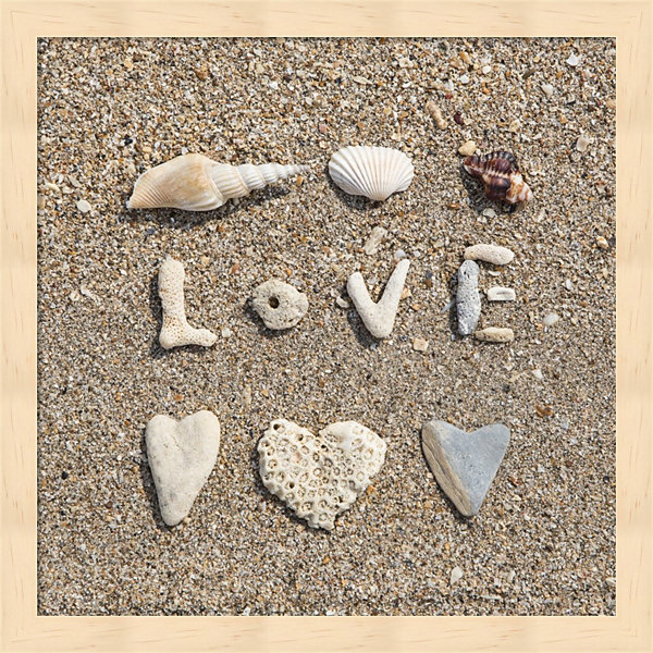 Metaverse Art Beach Love Framed Wall Art