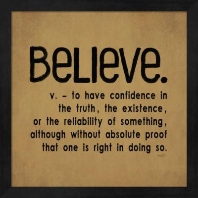 Definitions-Believe I Framed Wall Art