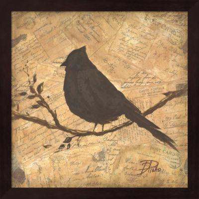 Metaverse Art Bird Silhouette II Framed Wall Art