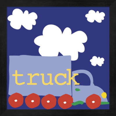 Blue Truck Framed Wall Art