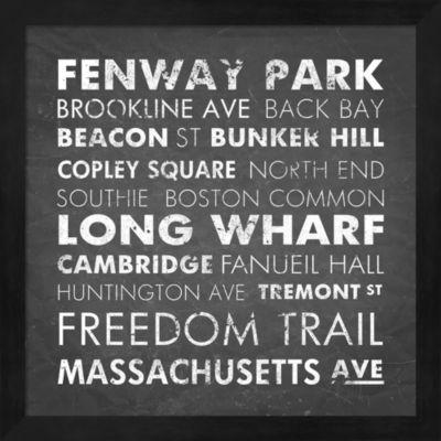 Metaverse Art Boston Cities Framed Wall Art
