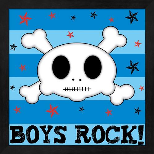 Boys Rock Framed Wall Art