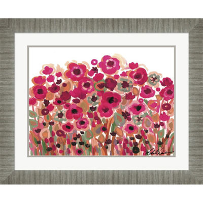 Metaverse Art Brightly Blooming Framed Wall Art