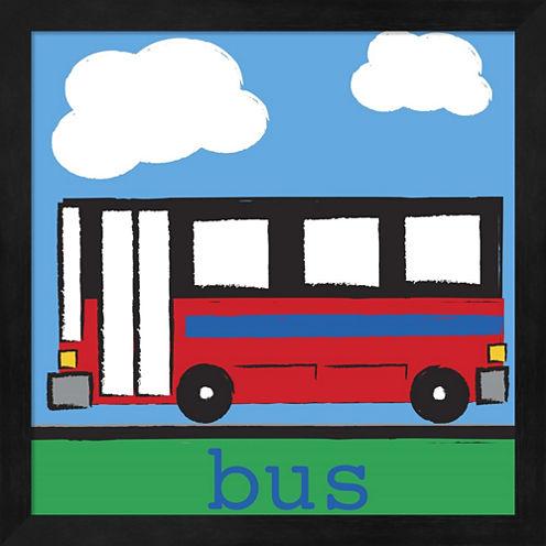 Bus by Melanie Parker Framed Wall Art