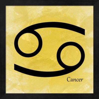 Cancer - Yellow Framed Wall Art