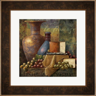 Cheese & Grapes Framed Wall Art