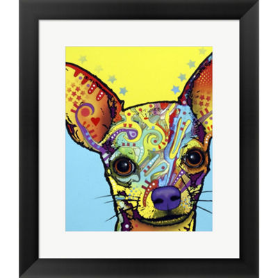 Metaverse Art Chihuahua I Framed Wall Art