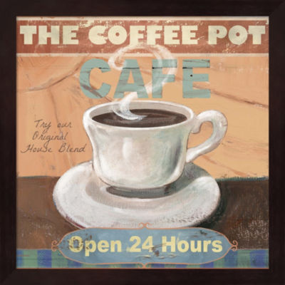 Metaverse Art Coffee Pot Framed Wall Art
