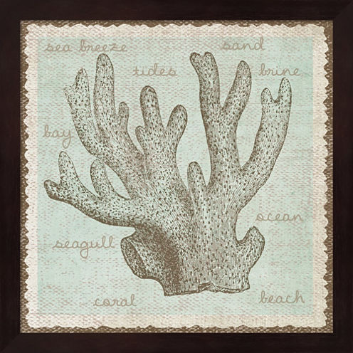 Coral Framed Wall Art