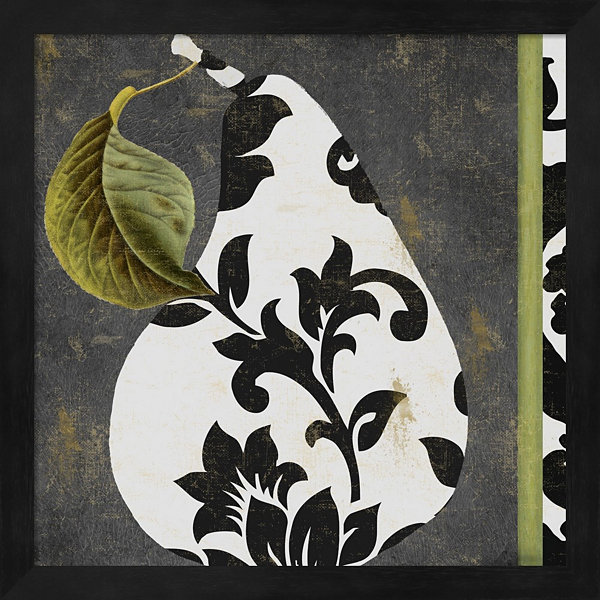Decorative Pear I Framed Wall Art