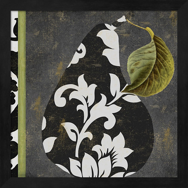 Decorative Pear II Framed Wall Art