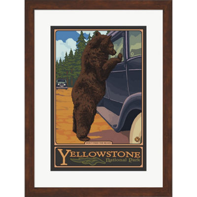 Metaverse Art Don't Feed The Bears Yellowstone Framed Wall Art