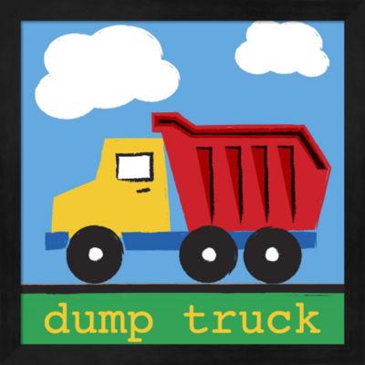 Dump Truck by Melanie Parker Framed Wall Art